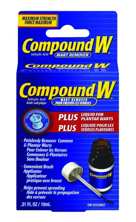 buy compound w liquid wart remover for plantar warts 10 ml
