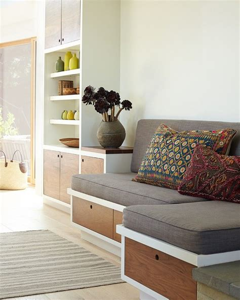 built in bench seat with storage kitchen of the week an artful aerie in mill valley