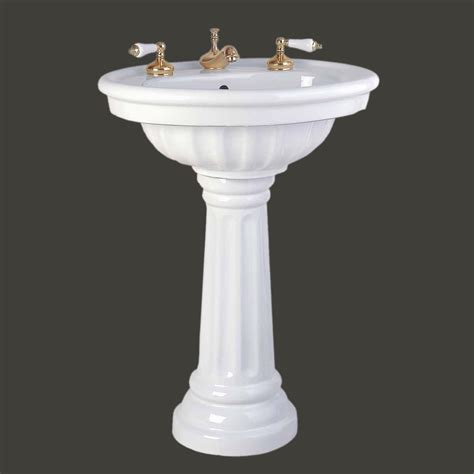 Bathroom Pedestal Bathroom Single Pedestal Sink White China Fluted Philadelphia