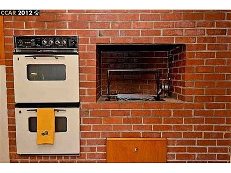 Removing Brick Kitchen Wall by Kitchen Wall With Oven And Indoor Grill On Brick