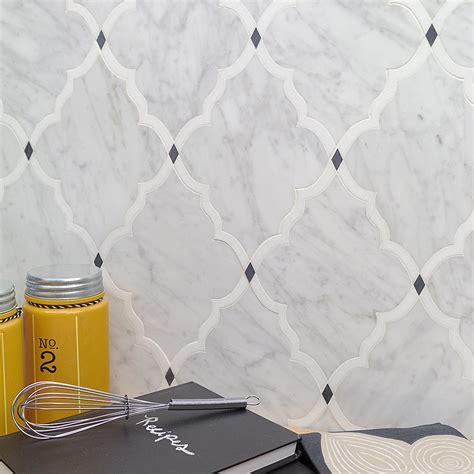 Shop for vanguard white thassos white carrara and bardiglio dot polished marble tile at tilebar com
