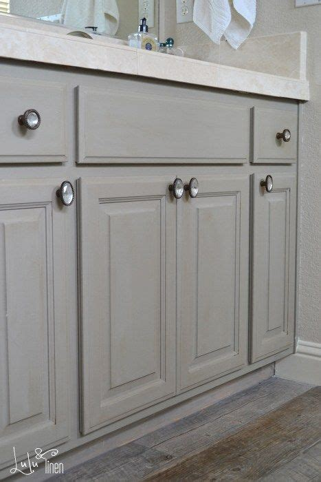 chalk painting bathroom cabinets bath cabinet makeover transformation by lulu and linen with french linen chalk paint