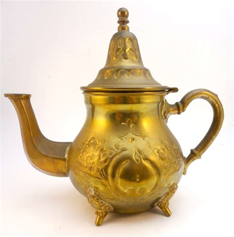 vintage decorative teapot from morocco