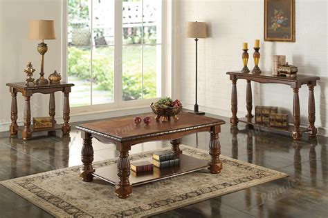 antique style wooden coffee table