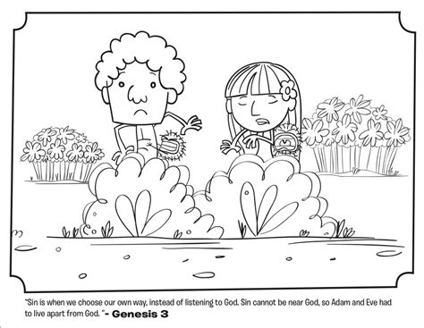 adam  eve leave  garden coloring pages whats