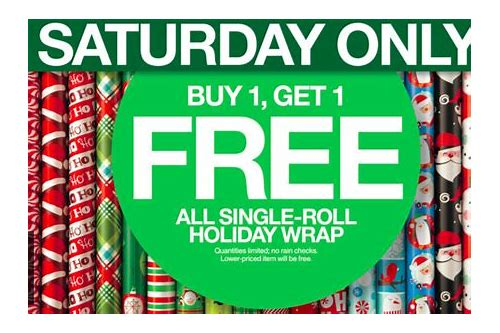 target free wrapping paper coupon