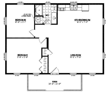 Certified Floor Plan Pioneer Floor Plan 26pr1202 26 26 X 36 House Plans