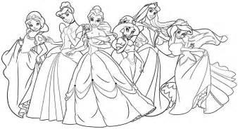 Disney Coloriages Princesse Disney Page 4