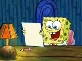 Spongebob Doing His Essay spongebob doing his essay 187 literature review library services