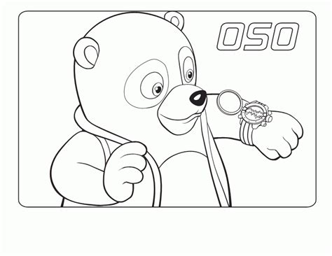 Special Agent Oso Coloring Pages Coloringpagesabc Com Special Colouring Pages