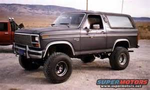 85 Ford Bronco 1985 Ford Bronco Pictures Photos And Sounds
