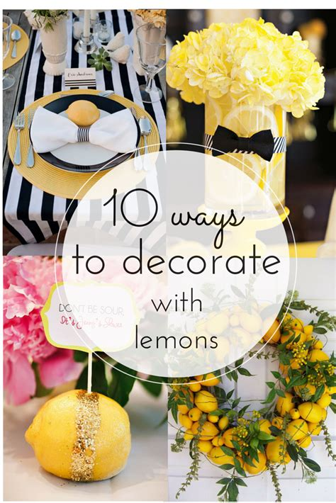 10 ways to decorate with lemons vintage romance style