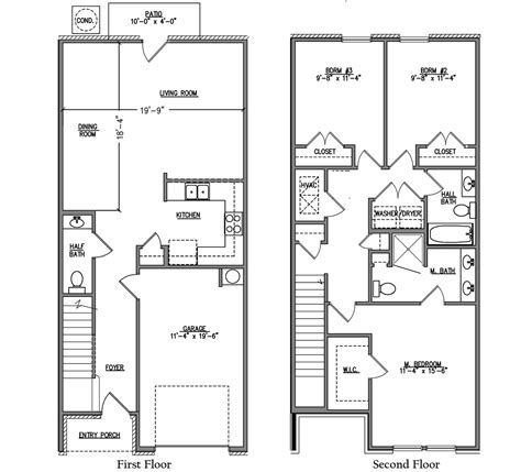 townhome floor plans 100 townhome floor plan designs best 25 modern