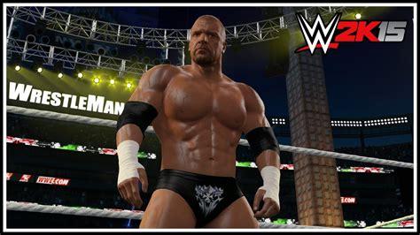 wwe 2k15 create wrestler superstar hd youtube wwe 2k15 triple h quot wrestlemania 31 quot attire wwe 2k15