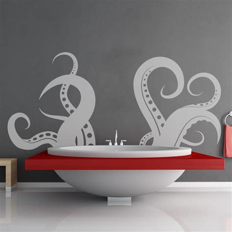 vinyl wall stickers giant tentacle wall decal the green head