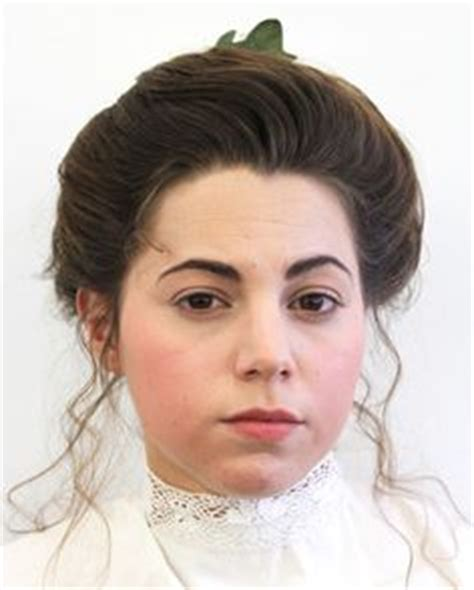 hair up 1900 edwardian makeup was subtlety used and only by those of
