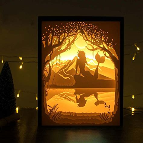 cutting led lights papercut light boxes 3d shadow box led light l