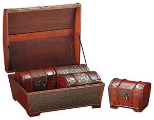 howard elliott 1950 brown faux weaved leather boxes 4