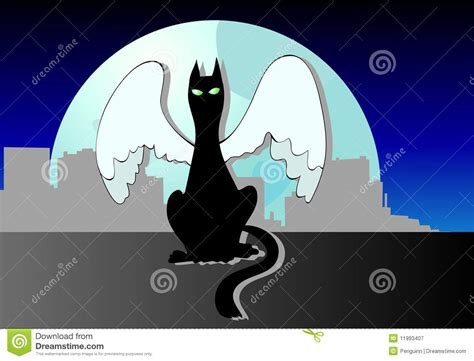 Angelic Black Cat the cat s royalty free stock photography image