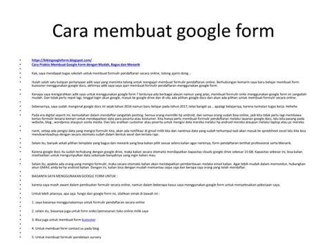 membuat google form powerpoint