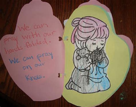praying craft for catholic icing prayer craft for preschoolers