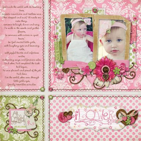 Floral Embellishments For Your Scrapbook Layouts by 30 Best Images About Scrapbook Layouts 2 Photos On