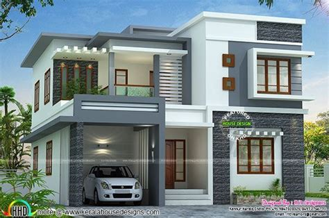 www kerala home design blogs 2767 sq ft flat roof style home kerala home design
