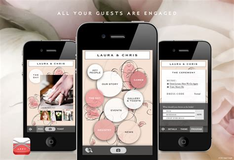 Wedding Announcement App by Create Your Own Wedding App With Appy Green