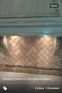 herringbone pattern backsplash tile backsplash done with subway tile diy home improvements
