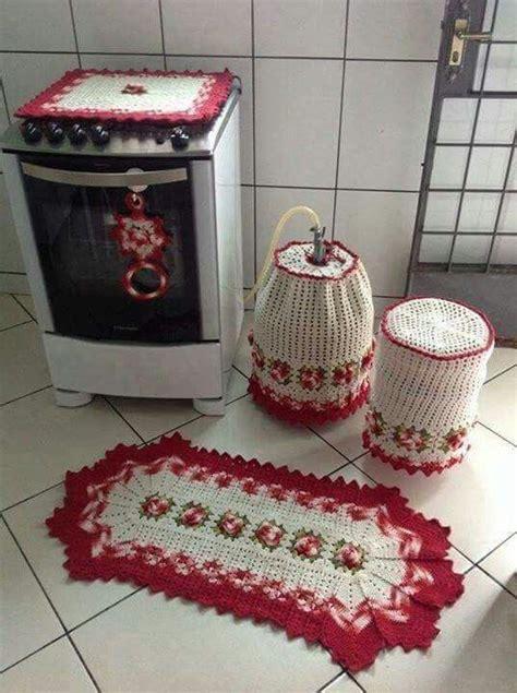 jueg de cocina juego de cocina adornos en crochet para cocina