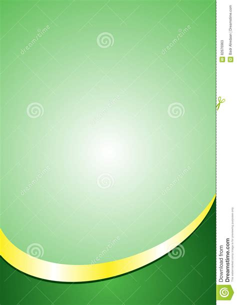 background size a4 poster background template green and gold color footer