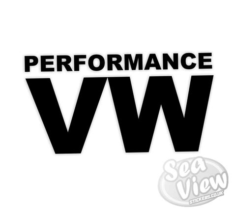 Vw Performance Aufkleber by Performance Vw Sticker