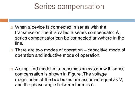 series capacitor compensation transmission line reactive power compensation