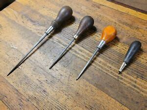 antique tools rare vintage awl lot wood handle woodworking