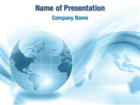 Globe Powerpoint Template Globe In Blue Colors Powerpoint Templates Globe In Blue Colors Powerpoint Backgrounds