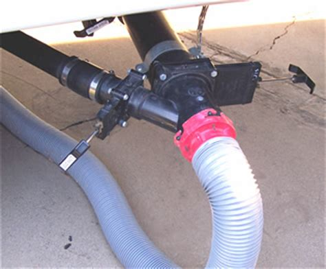 Blackwater Plumbing by Drain Master Electric Waste Valve Is Key Part Of Rv