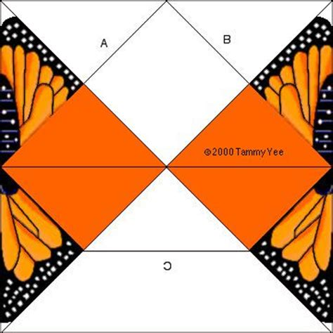 Folded Paper Butterfly Template - monarch butterfly origami state butterfly of minnesota