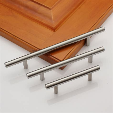stainless steel kitchen cabinet handles 2 18 quot solid stainless steel kitchen cabinet handles pulls