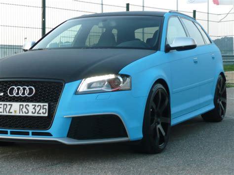 Auto Folie Hellblau Matt by Farb 252 Bersicht Audi Rs3 Exterieur Seite 2