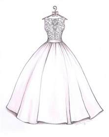 how to draw a dress ball gown wedding dress sketch by catie stricker howell