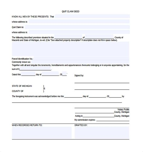 printable quit claim deed indiana printable quit claim deed form indiana