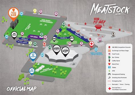 layout of an event meatstock competitor map event layout and activities