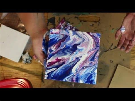 how to marble acrylic paint on canvas how to create marble texture using acrylic paint and water