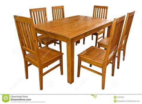 Dining Room Chair Plans by Dining Table And Chairs Isolated Stock Image Image Of
