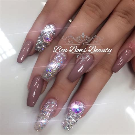 acryl nails acrylic nails 3d chrome ombre mermaid set