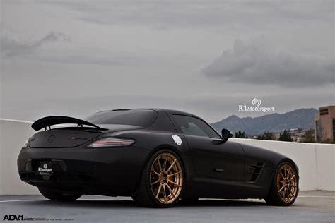 mercedes matte black matte black mercedes sls amg adv10 m v2 cs custom