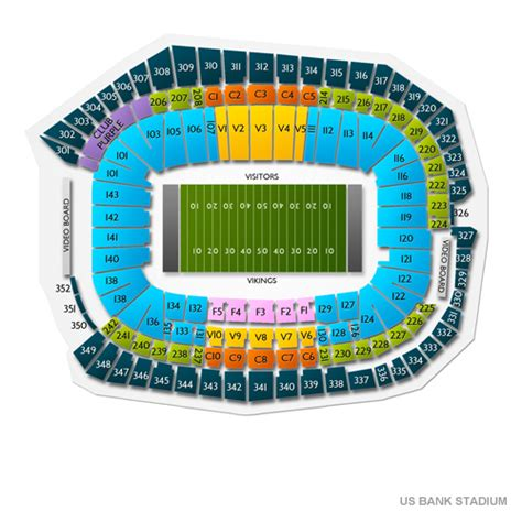 Us Bank Stadium Seating Chart With Rows And Seat Numbers
