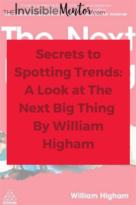 looking for the next big thing ranking the top 50 start secrets to spotting trends a look at the next big thing