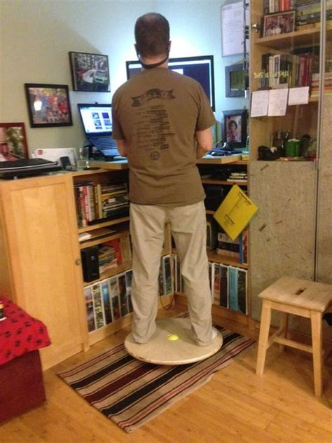wobble board standing desk 25 best ideas about stand up desk on computer