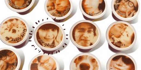 Mesin Let S Coffee lets coffee seni cetak foto di atas kopi minuman carapedia